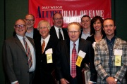 2014 Hall of Fame inductees, left to right: Frank Rizzo, John D'Anna, Tim Fuller, Mark Emmons, Joe Cole, Joshua Moss, Joni Hirsch Blackman, Chris Oldre