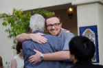Current managing editor Thorsten Ward gets a hug too