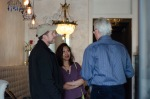 Marketing coordinator Milani Hunt and husband Ron chat with Mark