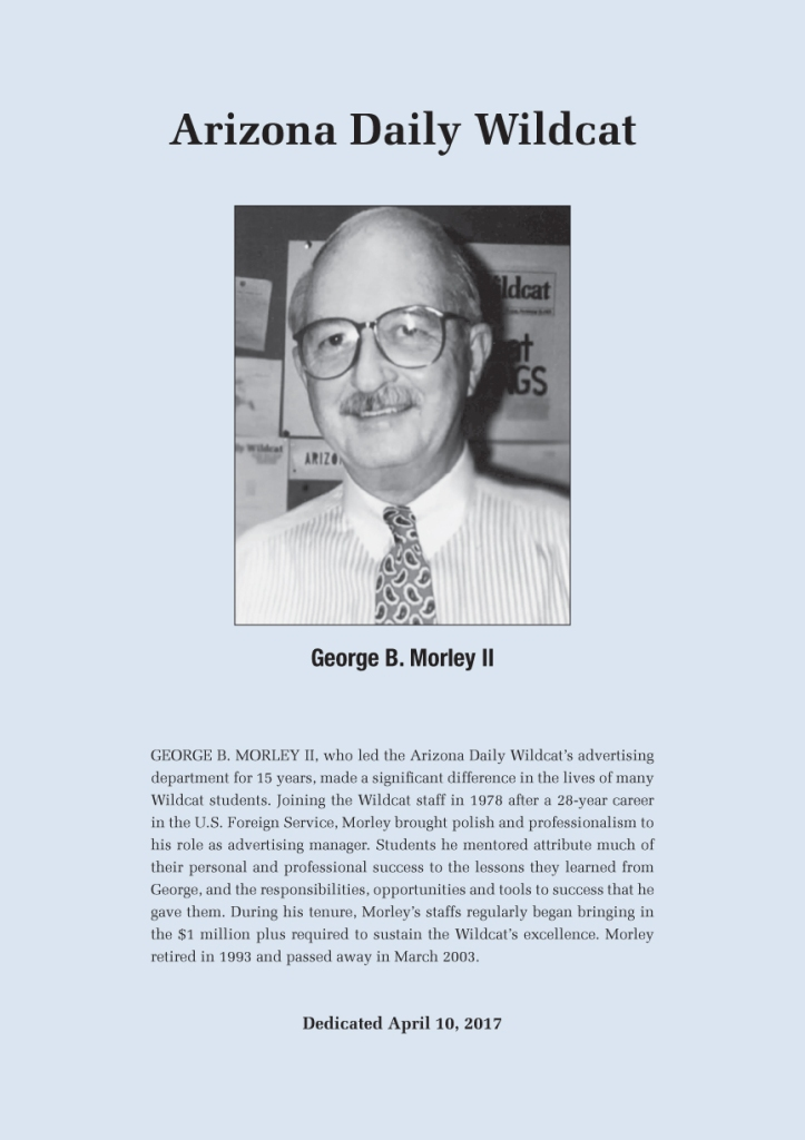 George Morley plaque